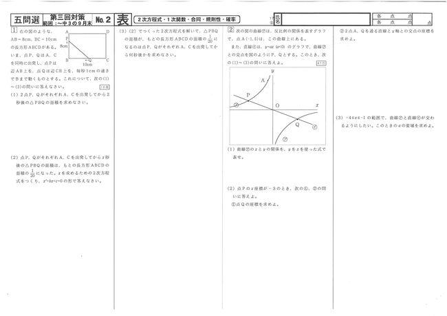 17⑩四問選No.2表